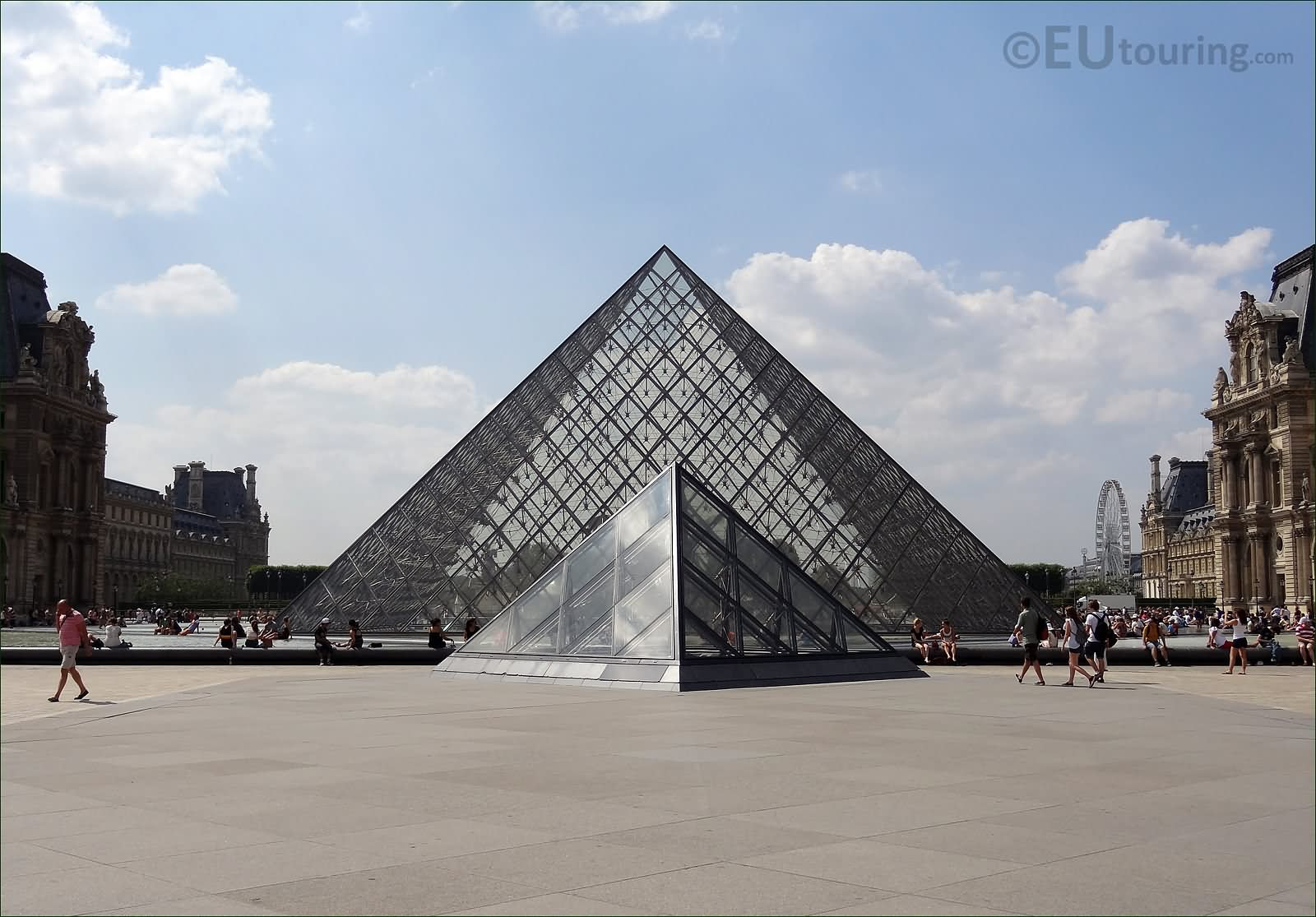 Glass Pyramid At The Louvre Museum