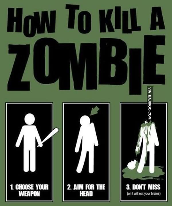 How-To-Kill-A-Zombie-Funny-Meme-Picture.