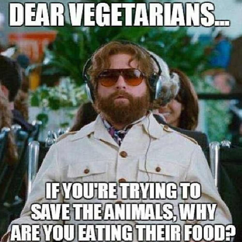 If You Are Trying To Save The Animals Why Are You Eating Their Food Funny Weird Meme Picture For Whatsapp 35 most funny weird meme pictures and images,Whatsapp Meme