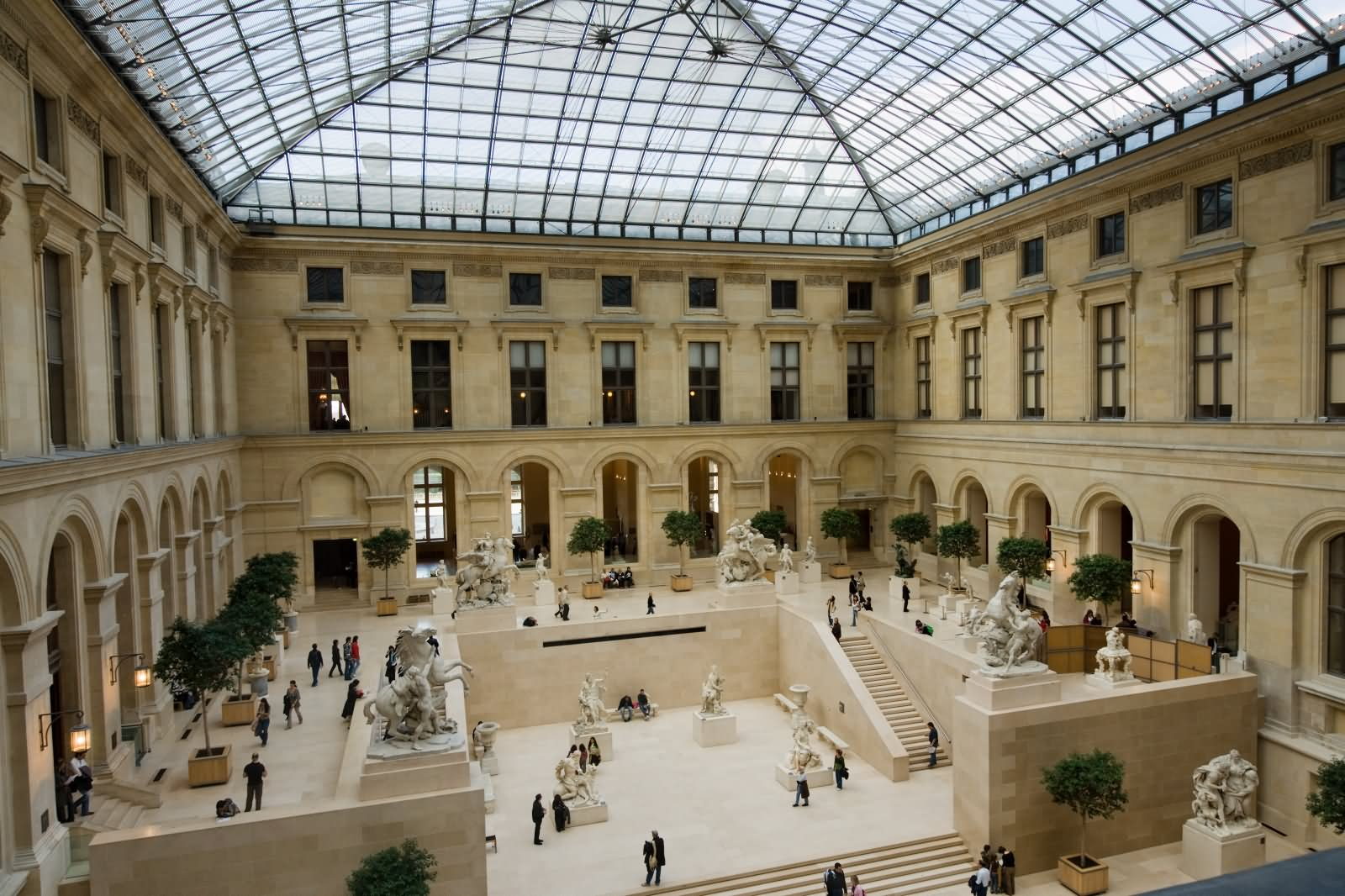 Interior Design Of The The Louvre Museum