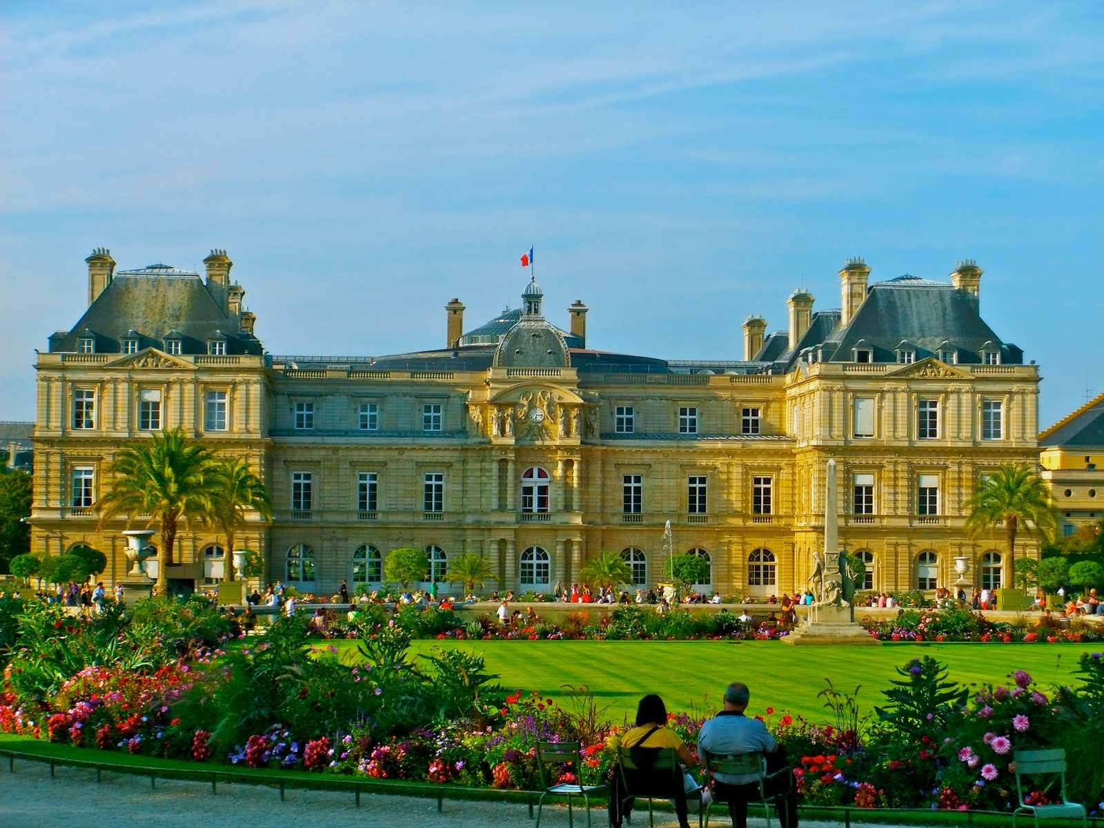 Beautiful Flowers In Jardin du Luxembourg Garden
