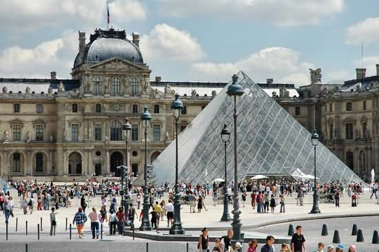 Large Number Of People Come To See The Louvre Museum