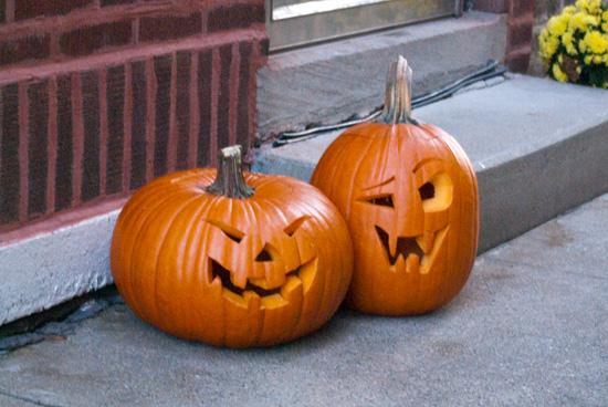 Laughing Halloween Pumpkins Image