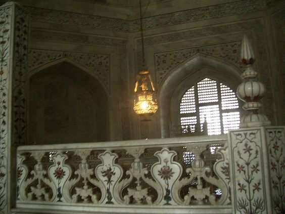 Lighting Lamp Inside Taj Mahal