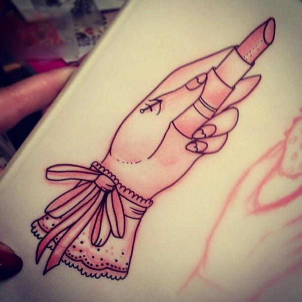 5+ Lipstick Tattoo Designs