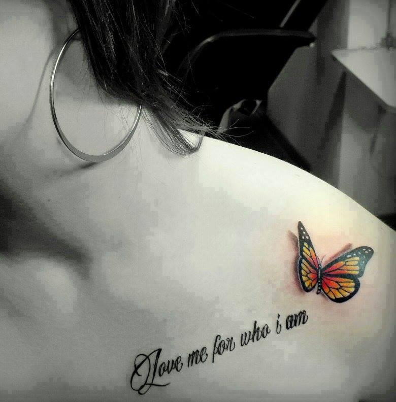 22 memorial tattoos for sister for Butterfly memorial tattoos