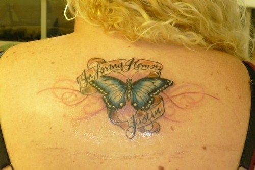 19 memorial tattoos for brother for Butterfly memorial tattoos