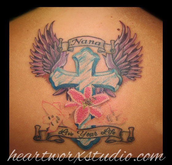Memorial Tattoo Heart With Wings And Quote: 37+ Latest Memorial Tattoos