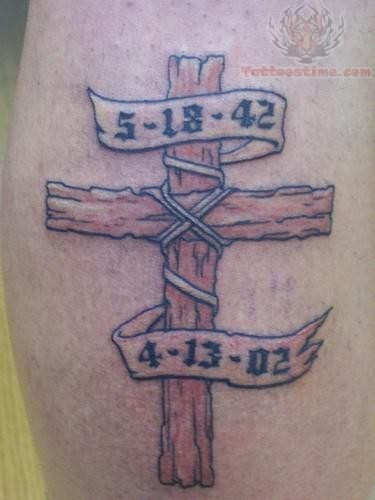 39 Memorial Cross Tattoos Ideas