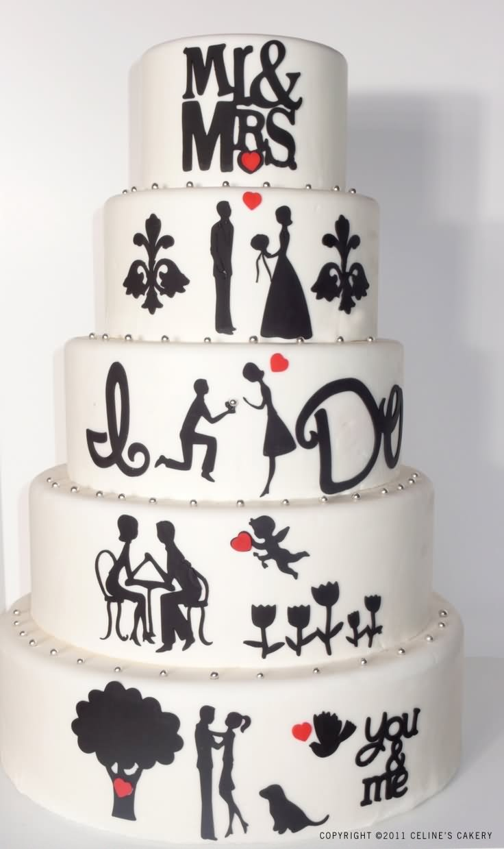 Mr And Mrs Funny Wedding Cake Picture