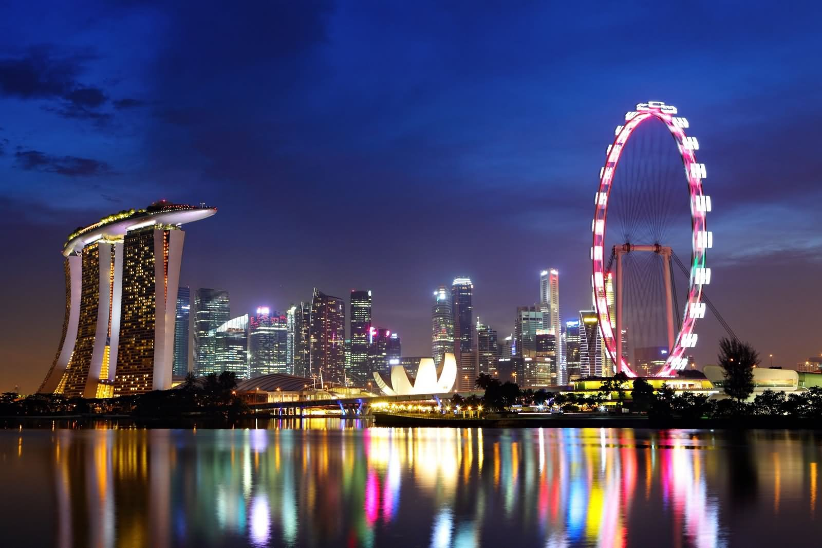 31 Most Beautiful Singapore Flyer Night Picture And Photos