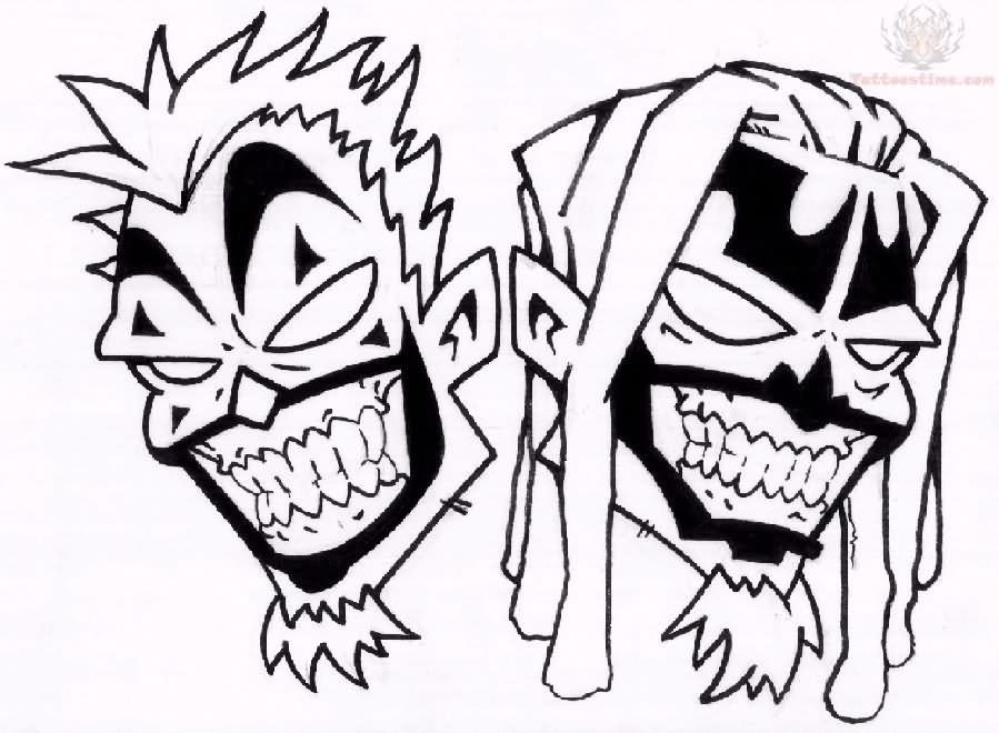 5 Latest Juggalo Tattoo Designs Icp Coloring Pages
