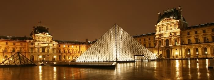 Panorama View Of Louvre Museum