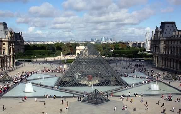 People Visit Louvre Museum
