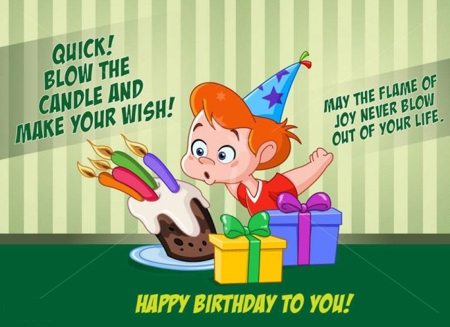 Quick Blow The Candle And Make Your Wish Funny Birthday Wishes Picture