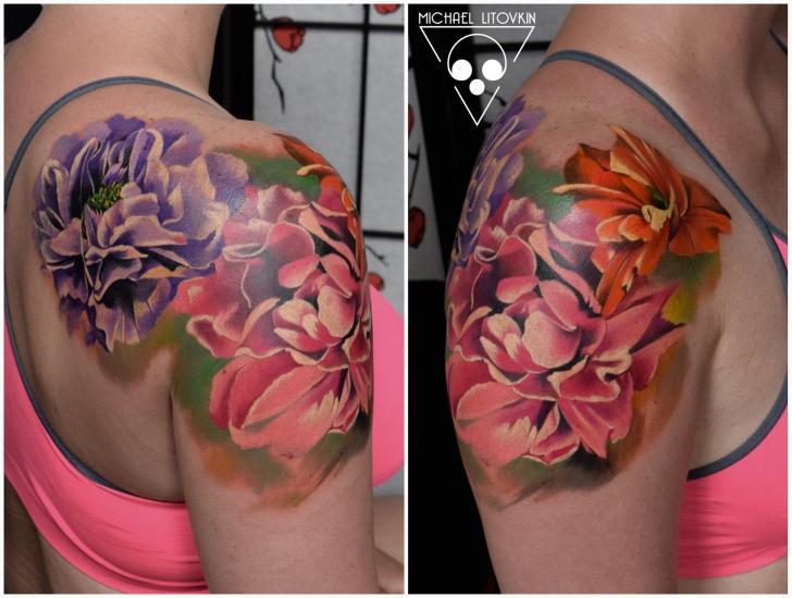 Realistic Flower Tattoo Designs: 35+ Realistic Floral Tattoos