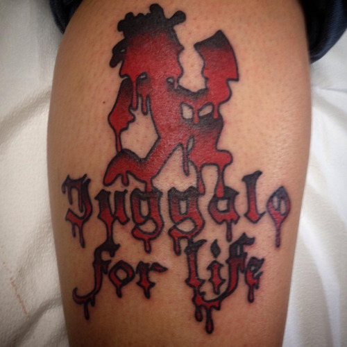 Juggalo Tattoo Flash Design On Bicep 3d Juggalo Tattoos