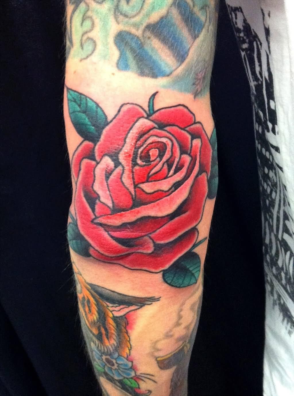 22 beautiful rose elbow tattoos red rose tattoo design for elbow izmirmasajfo