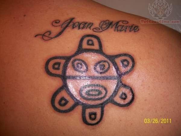 Right Back Shoulder Taino Sun Tattoo