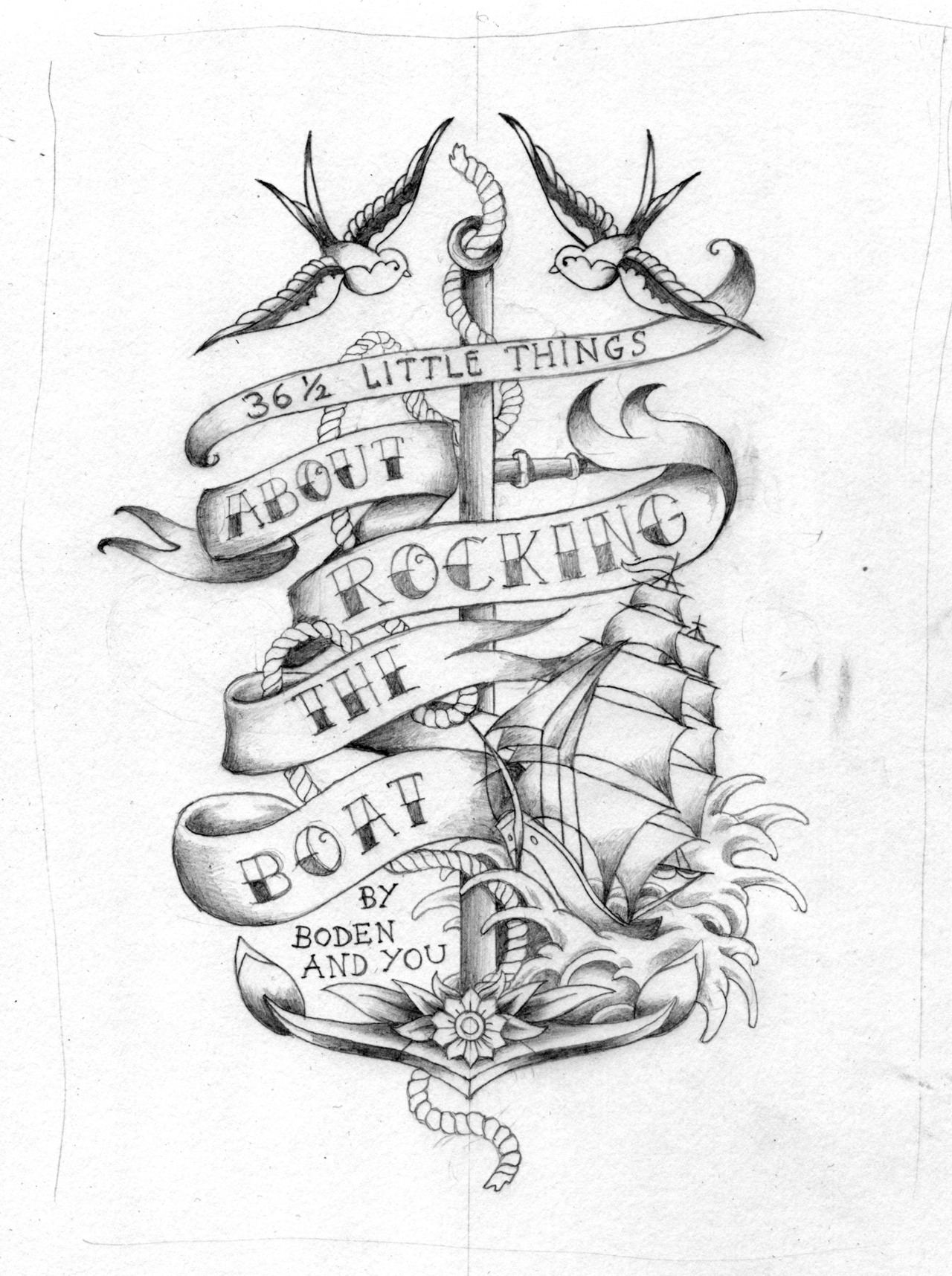anchor with banner tattoo sketch images galleries with a bite. Black Bedroom Furniture Sets. Home Design Ideas