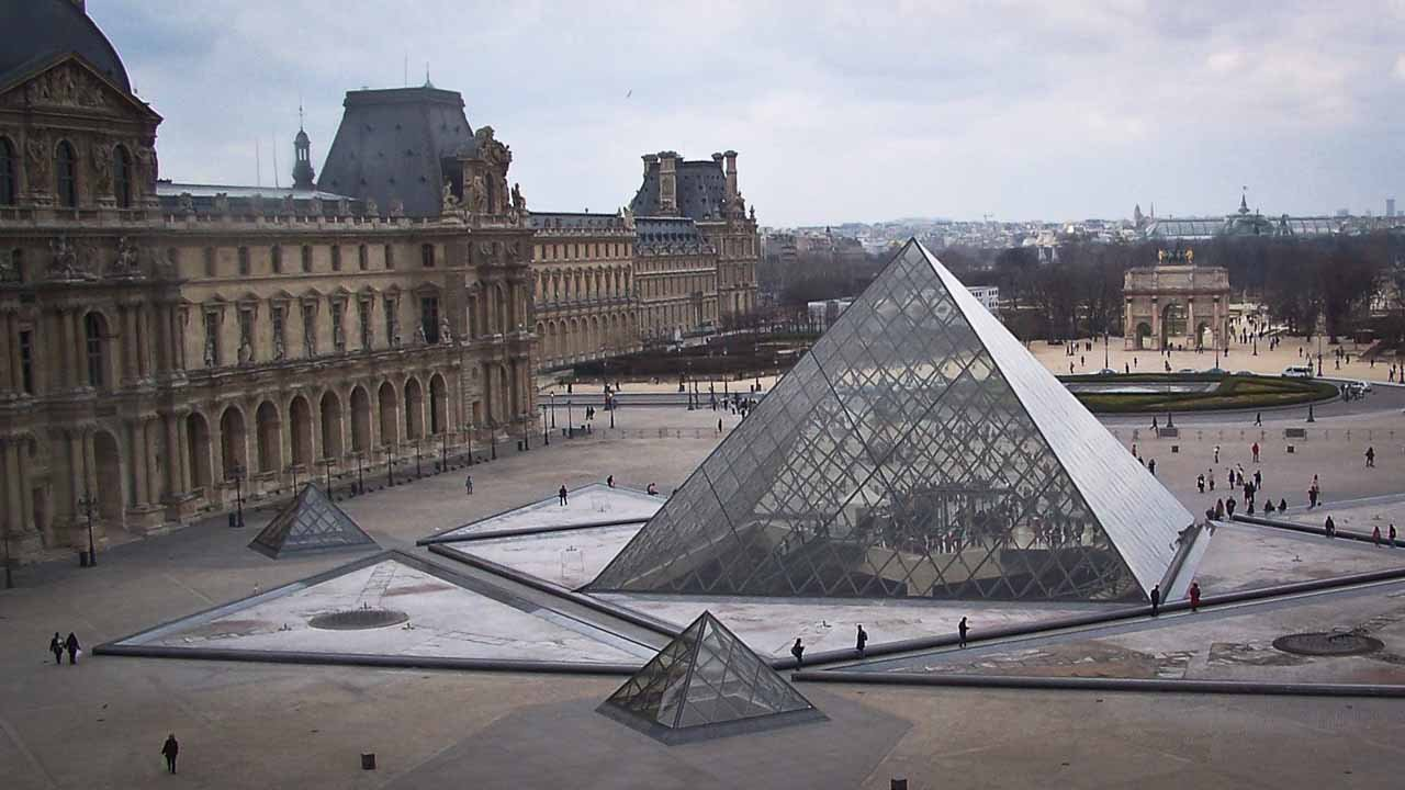 Side View Of Louvre Museum
