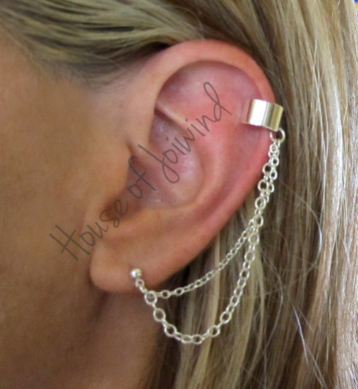Chain Earrings That Connect From Piercing To The Best