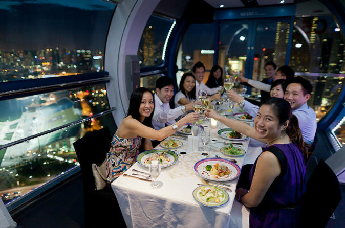 private singapore flyer sky dining capsule - 674×446