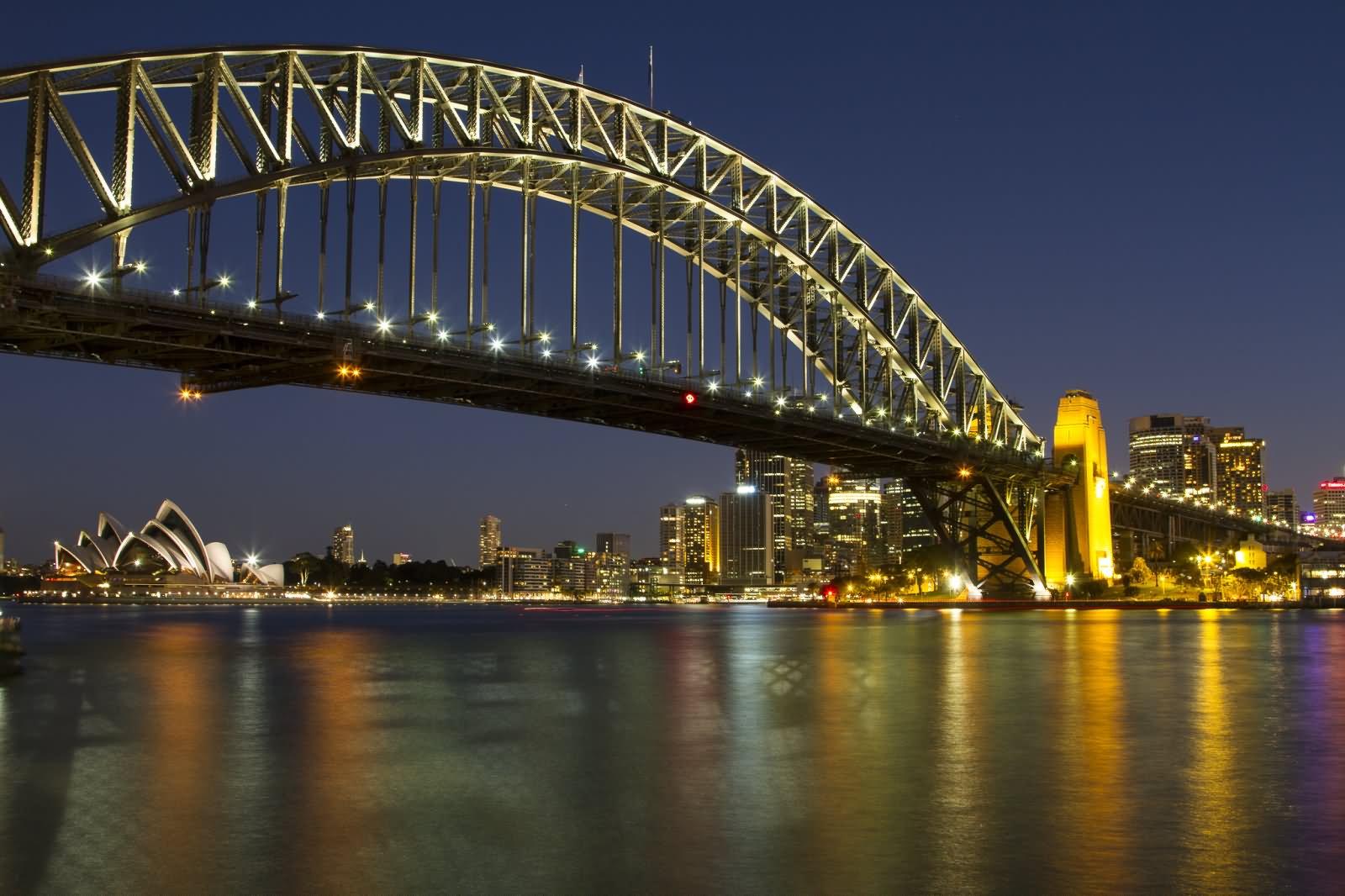 20 Sydney Harbour Bridge Night View Pictures And Photos