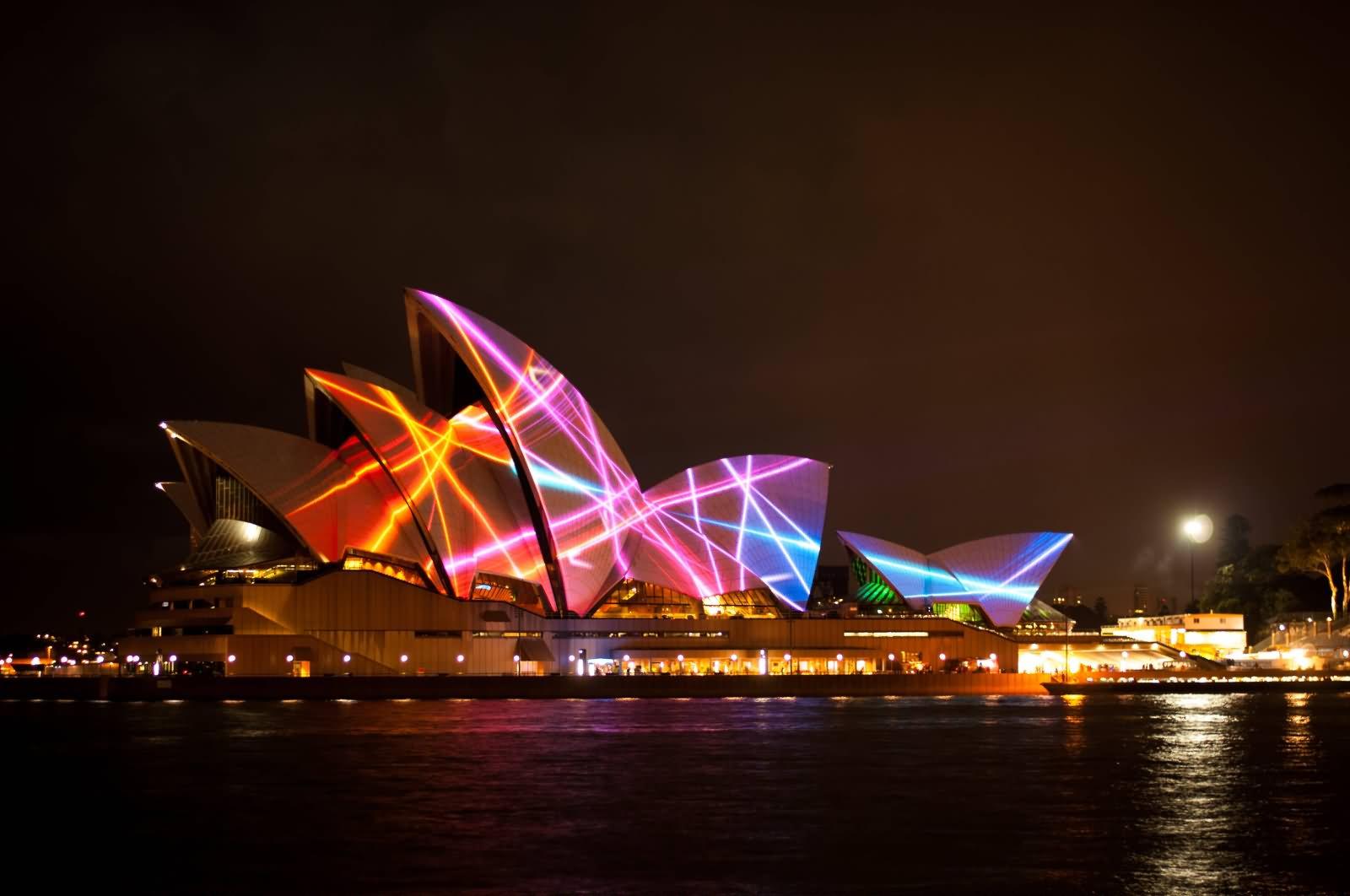 Sydney Opera House Night View For Vivid Festival - 44+ Pictures Of Sydney Opera House At Night  PNG