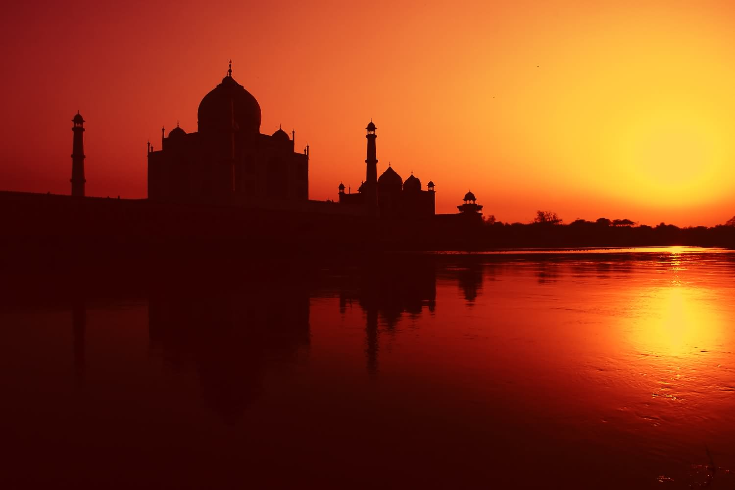 20 Very Beautiful Taj Mahal Sunset View Pictures And Images