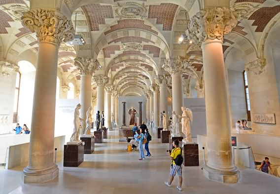 The Louvre Museum Interior And Architecture