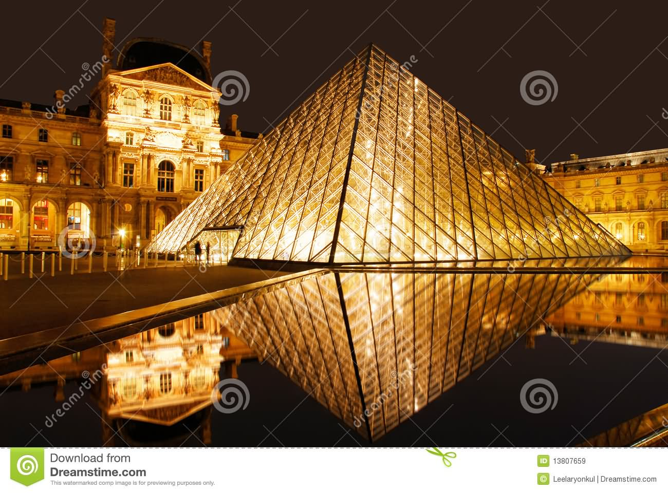 The Louvre Museum Looks Beautiful At Night
