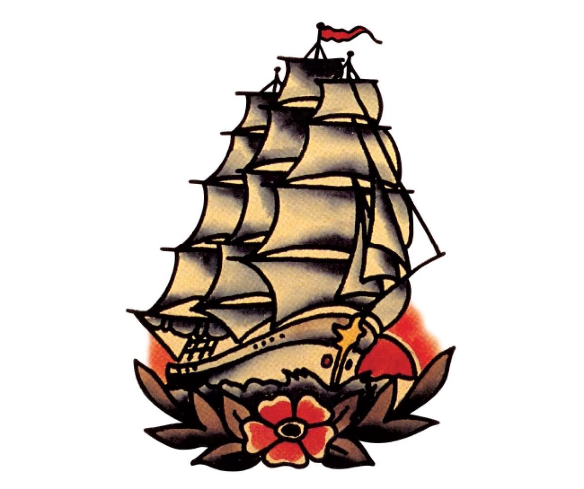 18+ Sailor Ship Tattoo Designs