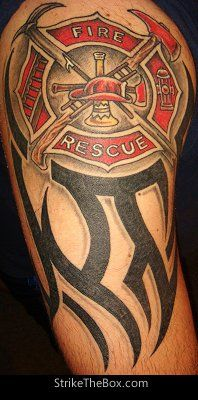 15 tribal firefighter tattoos. Black Bedroom Furniture Sets. Home Design Ideas