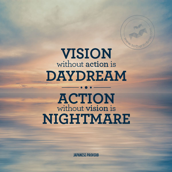 Vision without action is a daydream; action without vision ...