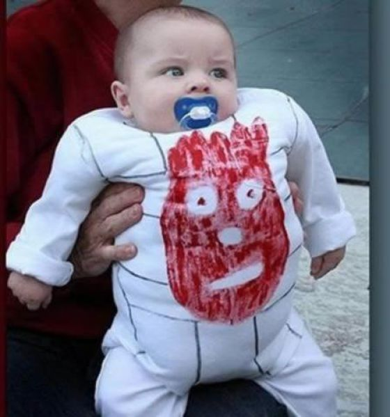 wilson ball halloween costume for baby funny photo - Childrens Funny Halloween Costumes