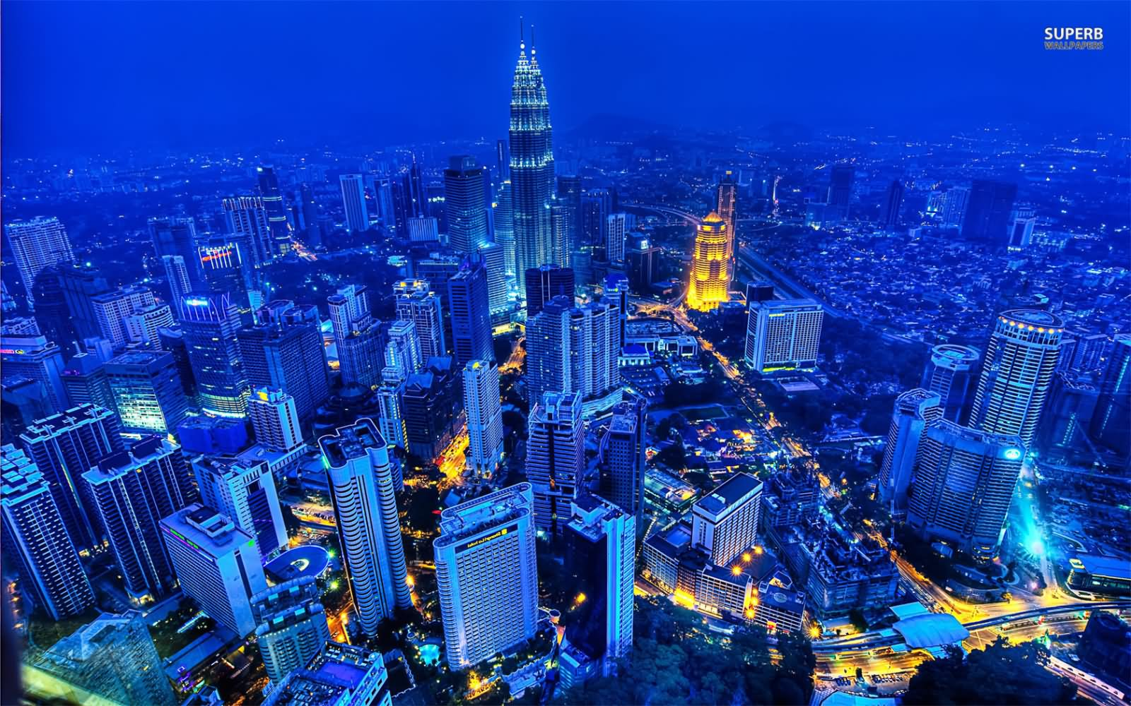 Aerial View Of Petronas Towers And Kuala Lumpur City Picture