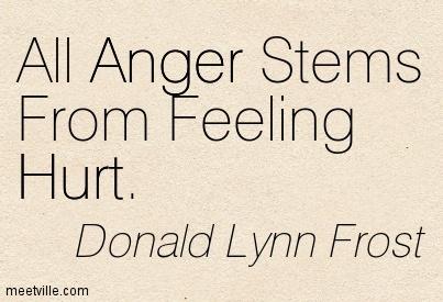 All Anger Stems From Feeling Hurt