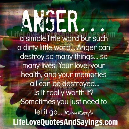 Angry Quotes For Love: Anger… A Simple Little Word But Such A Dirty Little Word
