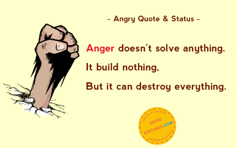 Anger is our natural defense against pain. So when I say I hate you, it reall...
