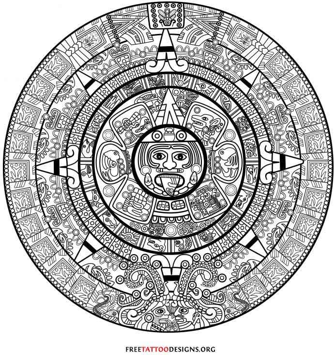 Mayan Calendar Drawing Easy : Awesome mexican tattoo designs