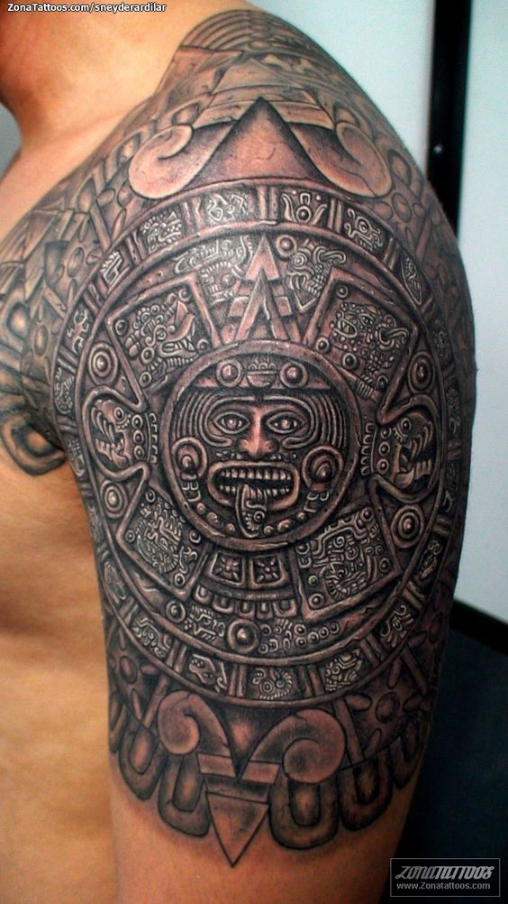 30 latest tribal mexican tattoos for Aztec tattoos sleeve