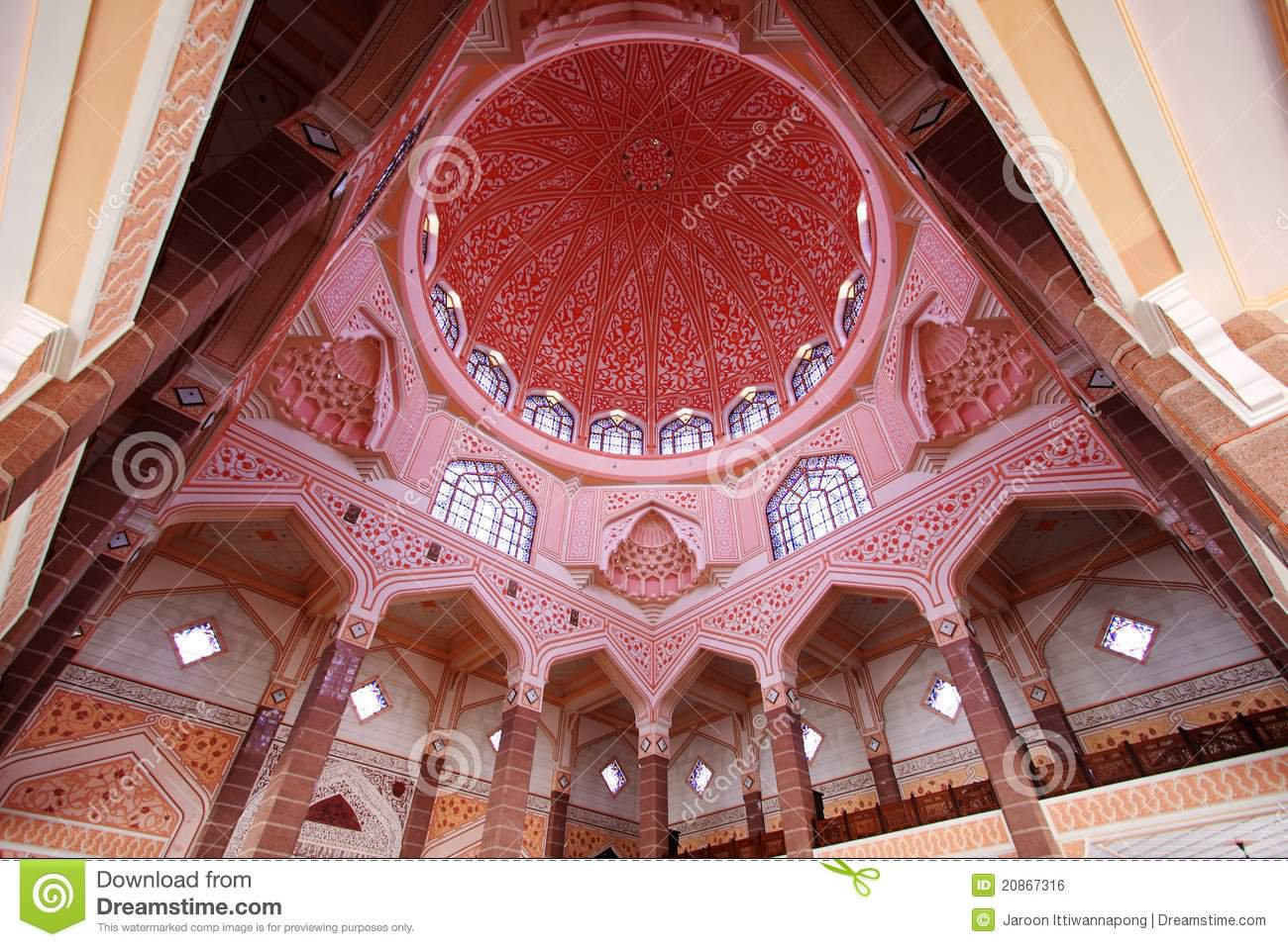 Beautiful Dome Inside Putra Mosque
