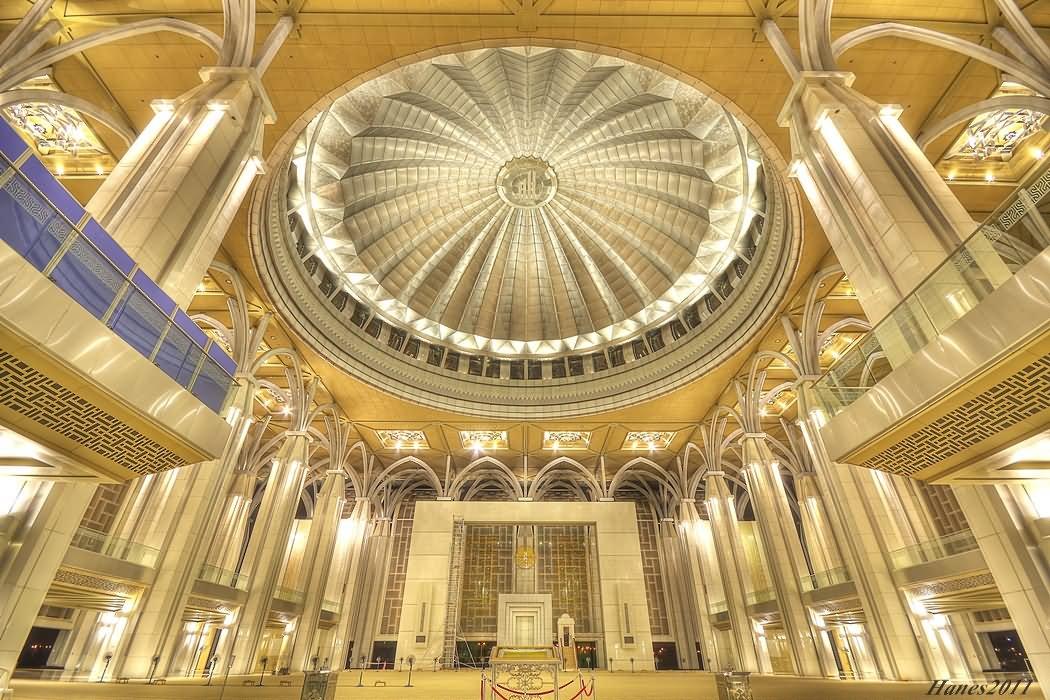Beautiful Inside View Of Putra Mosque, Malaysia