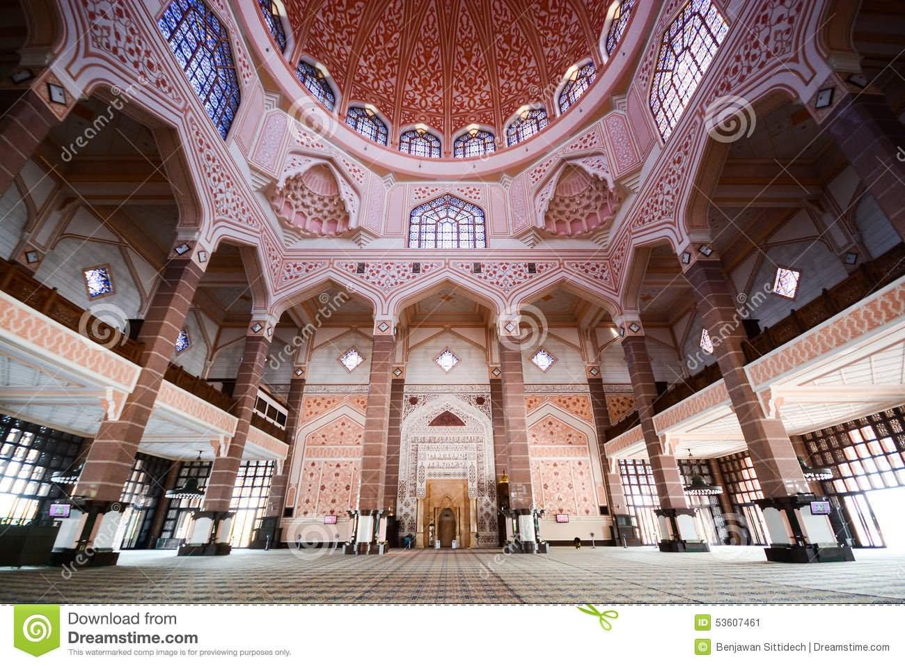 Beautiful Prayer Inside Putra Mosque