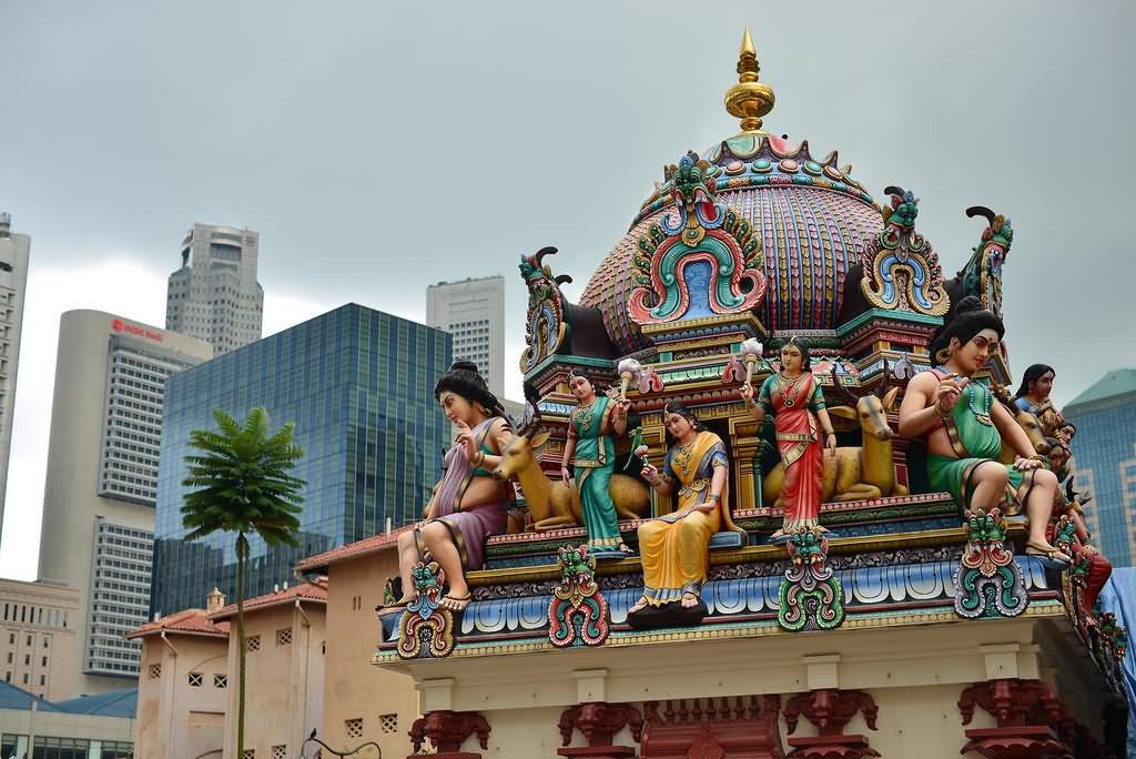 Beautiful Picture Of Sri Mariamman Temple, Singapore