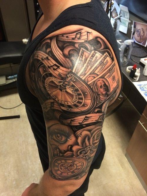 Casino sleeve tattoo ideas