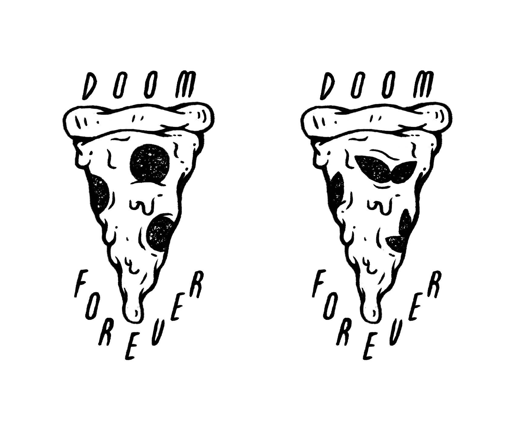 24+ Black And White Pizza Tattoos