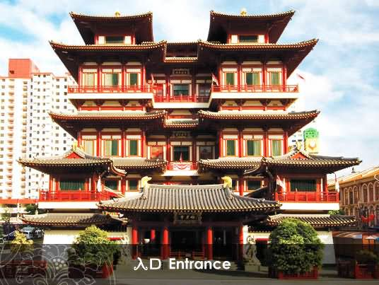 Buddha Tooth Relic Temple Entrance Picture