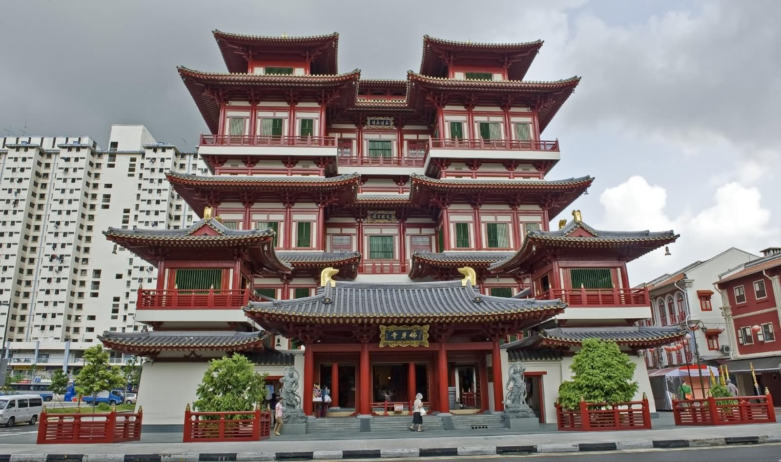 Buddha Tooth Relic Temple In Black Clouds